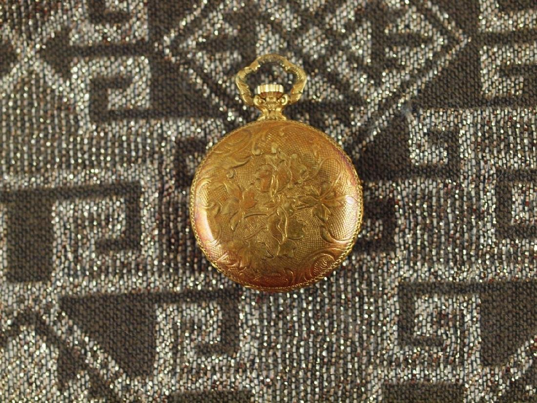 Vintage Savoy Art Deco Gold Plated Pocket Watch - 3