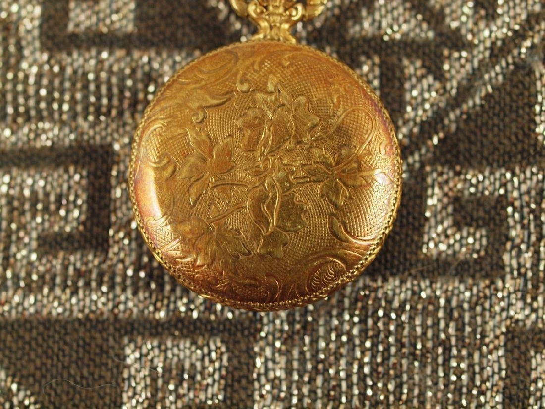 Vintage Savoy Art Deco Gold Plated Pocket Watch - 5