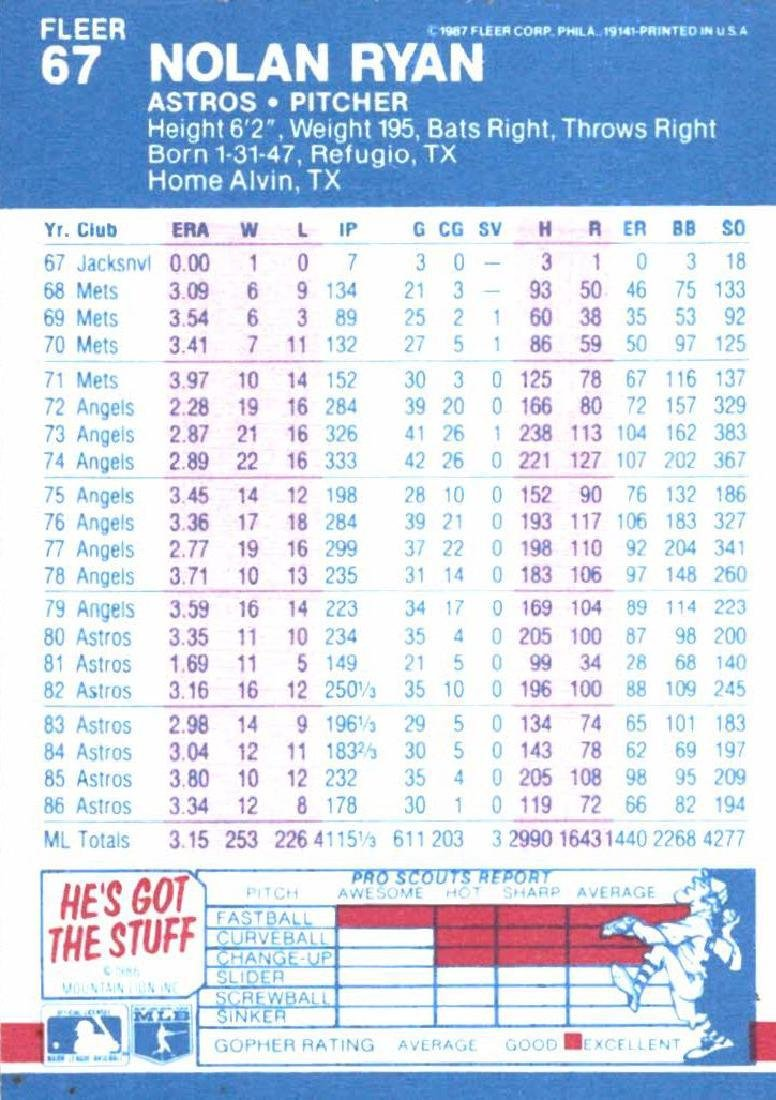 3 Nolan Ryan Baseball Card Lot - 6