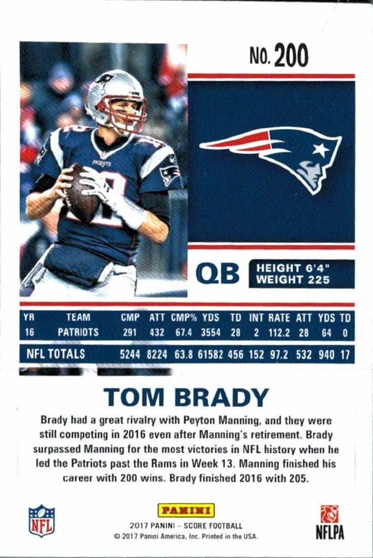 2 2017 Tom Brady Football Card Lot - 4
