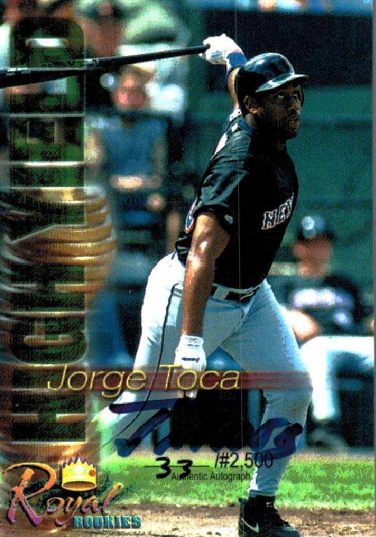 3 Baseball Cards Autographed Jorge Toca Ramon Soler