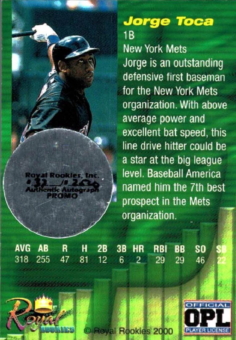 3 Baseball Cards Autographed Jorge Toca Ramon Soler - 2