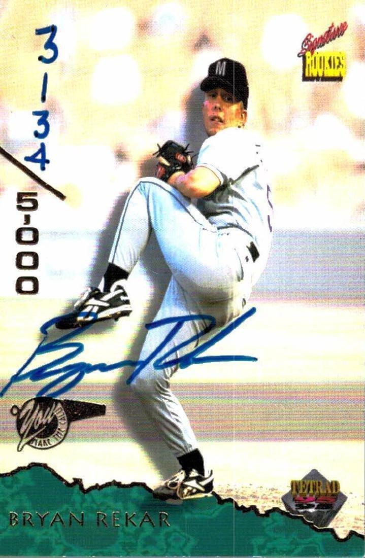 4 Baseball Card Autographed Todd Greene Bryan Rekar - 3