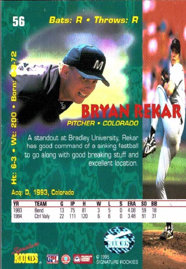 4 Baseball Card Autographed Todd Greene Bryan Rekar - 4