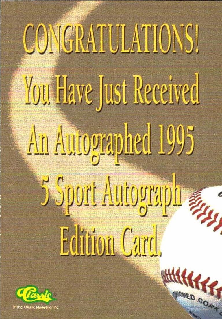 3 Baseball Cards Autographed Rick Helling Calvin Reese - 2