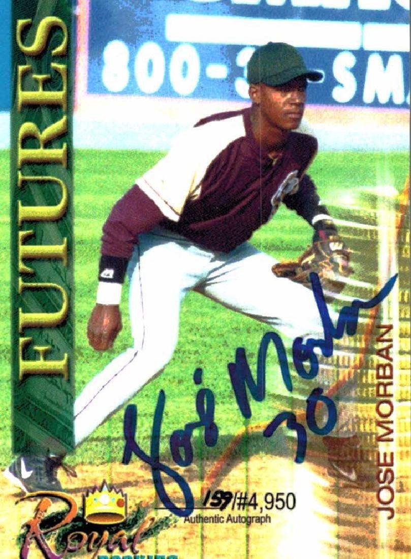 3 Baseball Card Autographed Card Lot Jose Morban