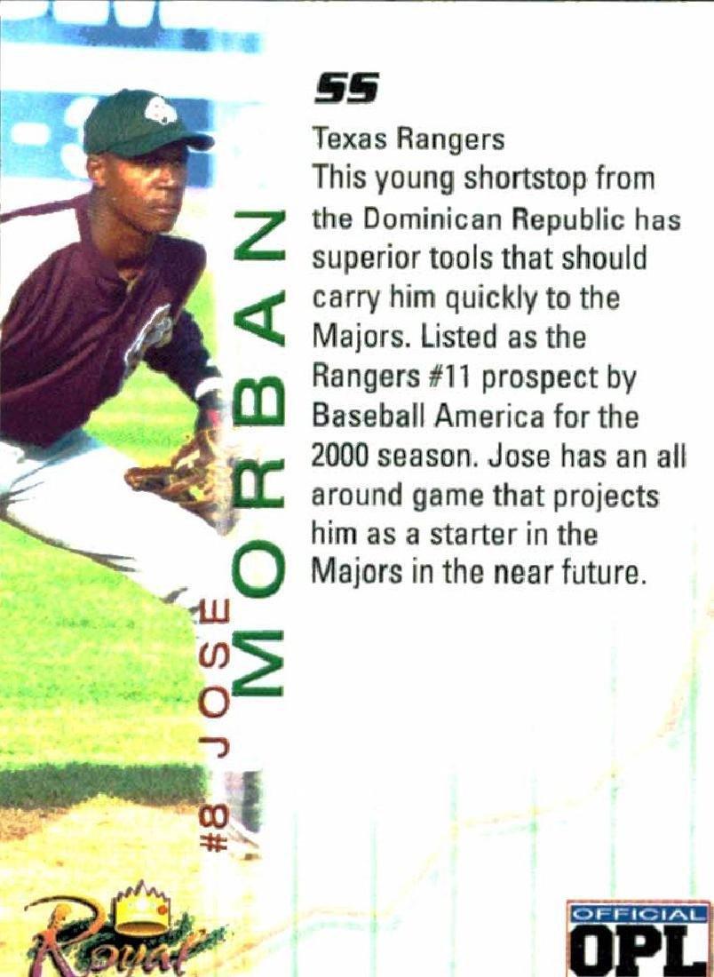 3 Baseball Card Autographed Card Lot Jose Morban - 2