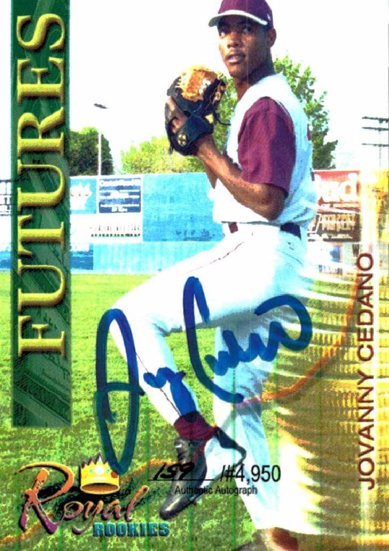 3 Baseball Card Autographed Card Lot Jovanny Cedano