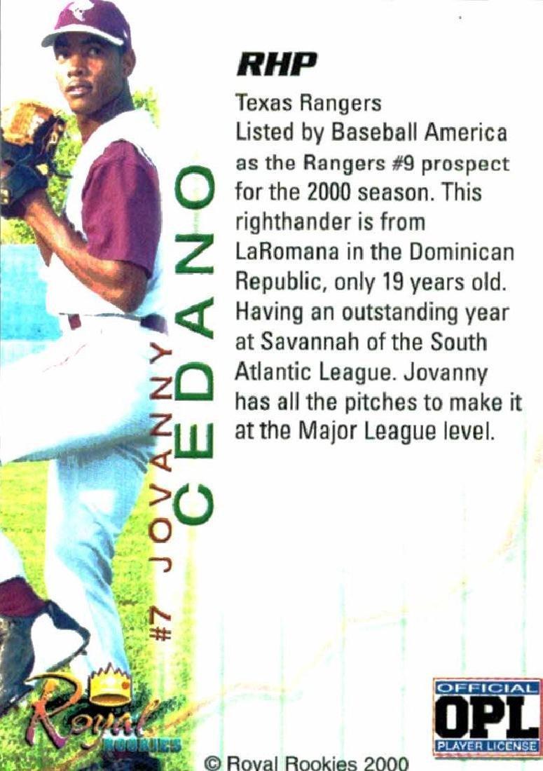 3 Baseball Card Autographed Card Lot Jovanny Cedano - 2