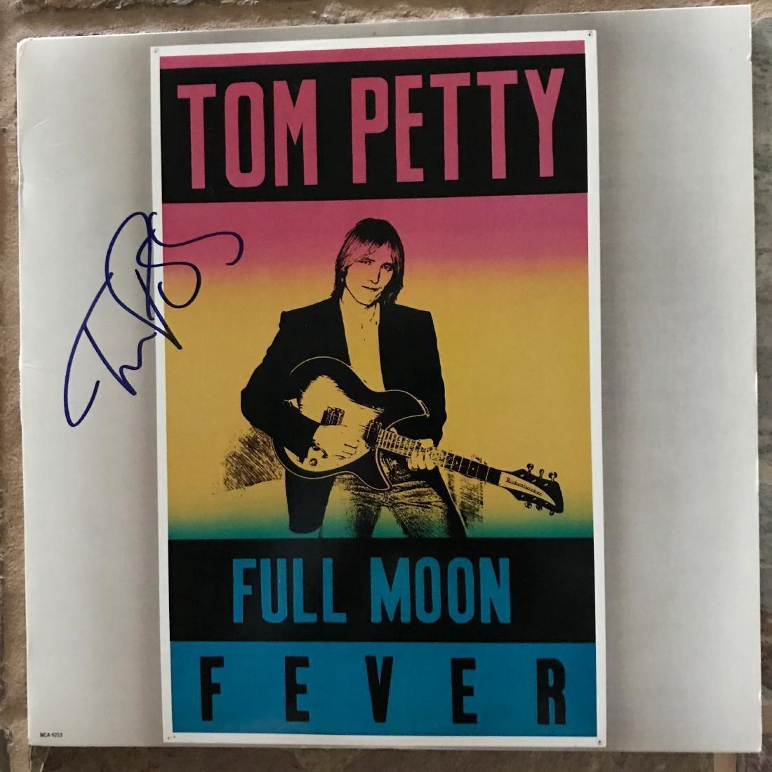 Tom Petty Signed Full Moon Fever album