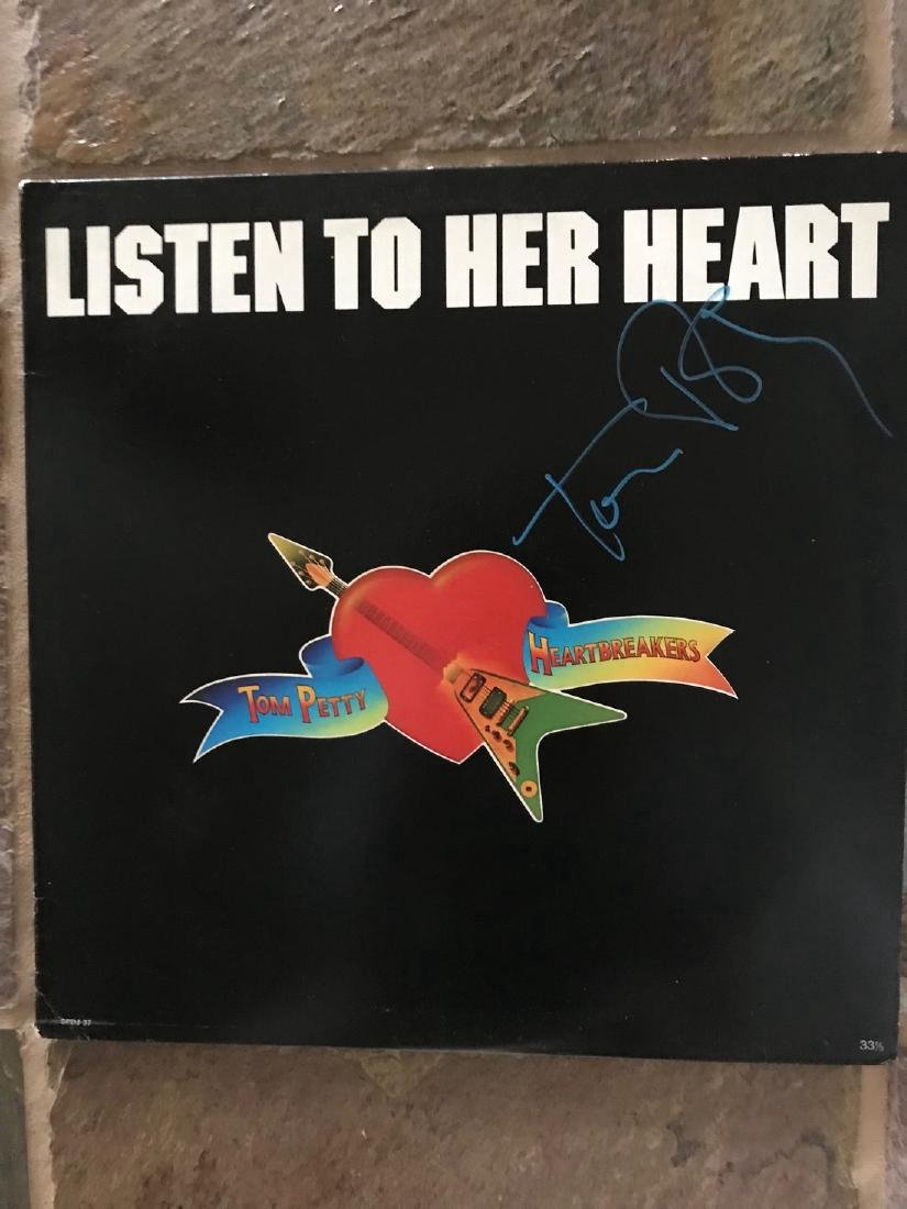 Tom Petty Signed Listen to Her Heart. 33 1/3 LP.