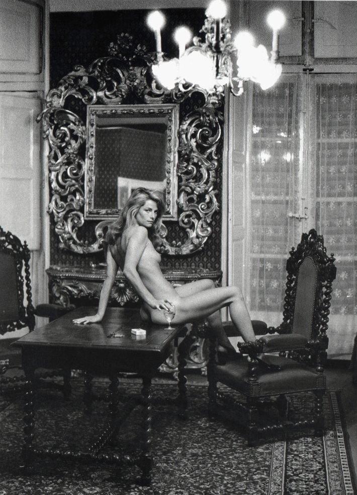Helmut Newton Portrait of Charlotte Rampling Arles 1973