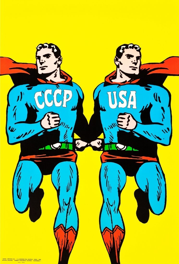 Roman Cieslewicz CCCP USA Superman 1968 Pop Art Poster