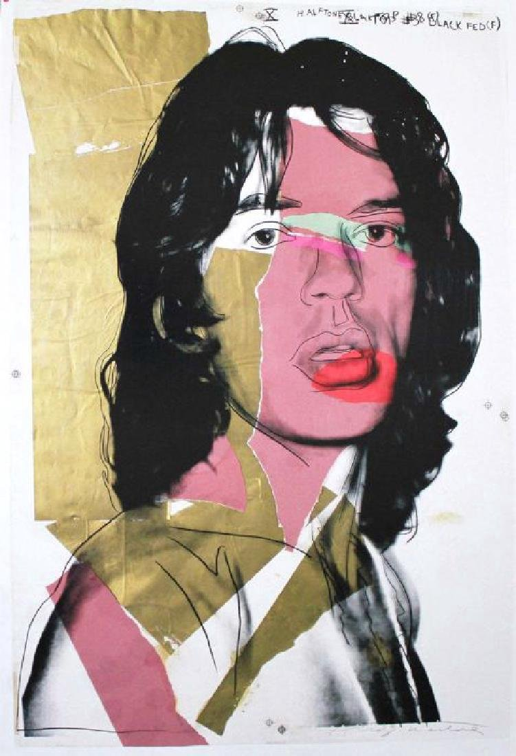 Andy Warhol Limited Edition Offset Lithograph Mick