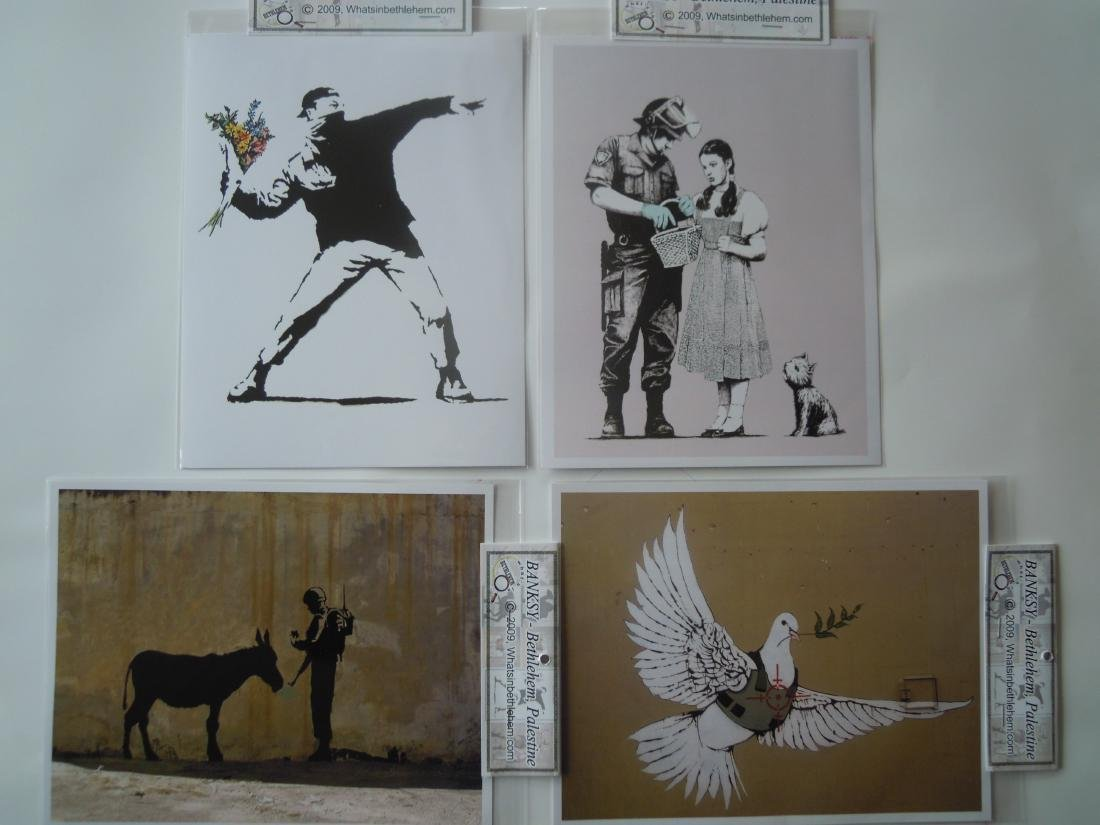Eight Banksy Shop Prints