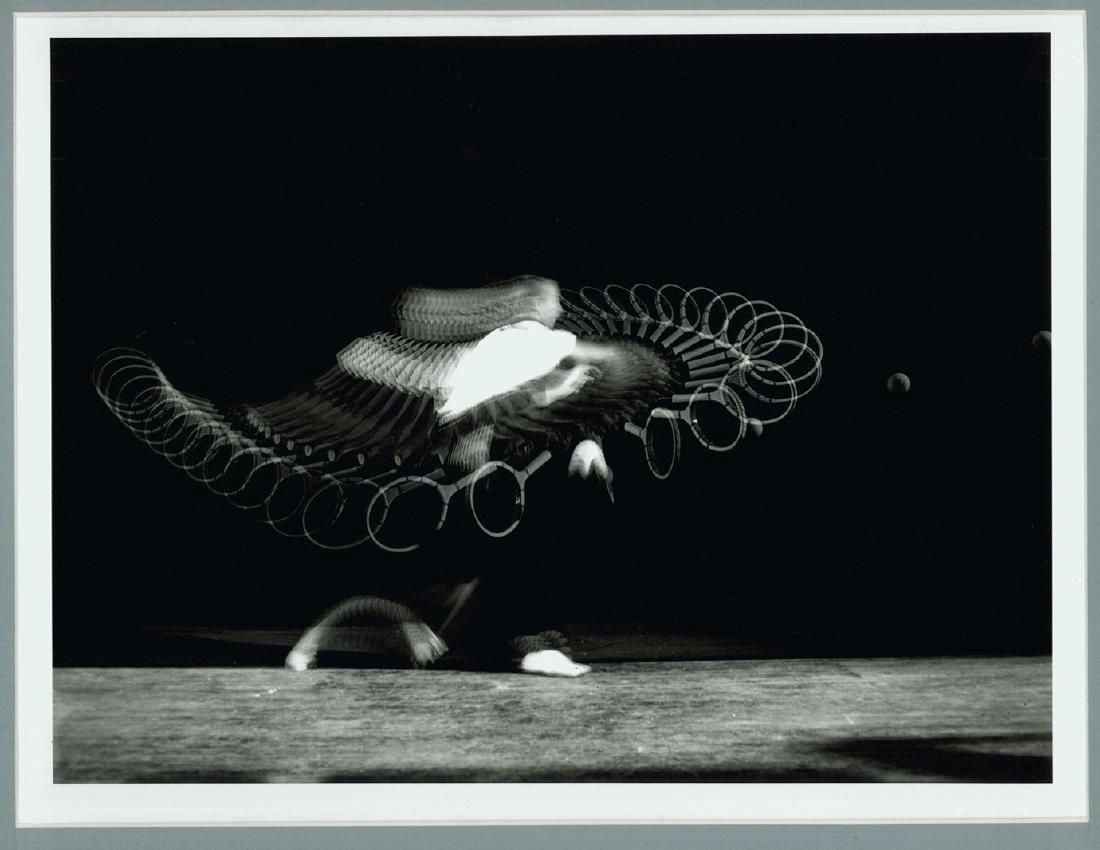 Harold Edgerton Signed Photograph Tennis Forehand Drive