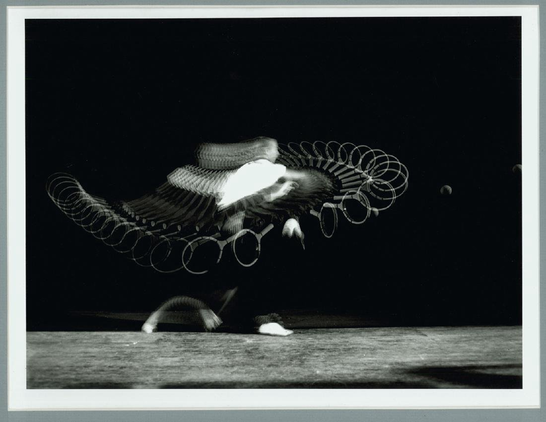 Harold Edgerton Signed Photograph Tennis Forehand Drive