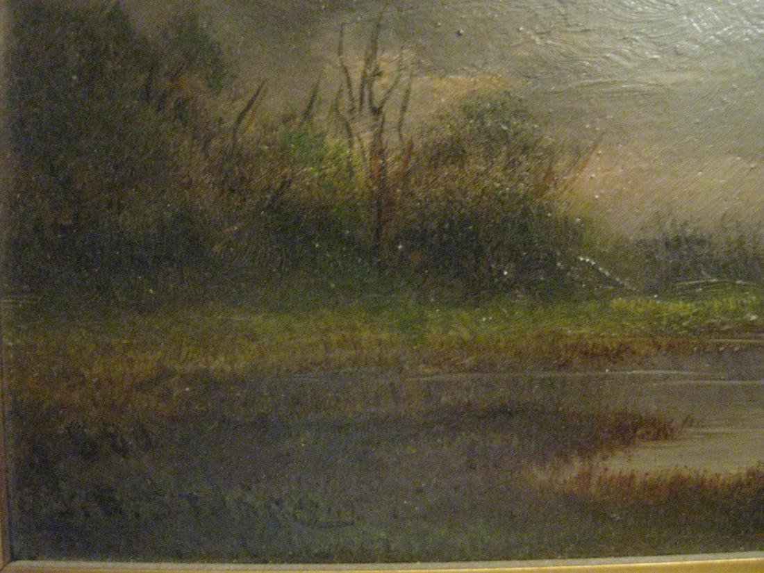 J V Stuart. Swamps of the San Jouquin River Cal, Oil - 5