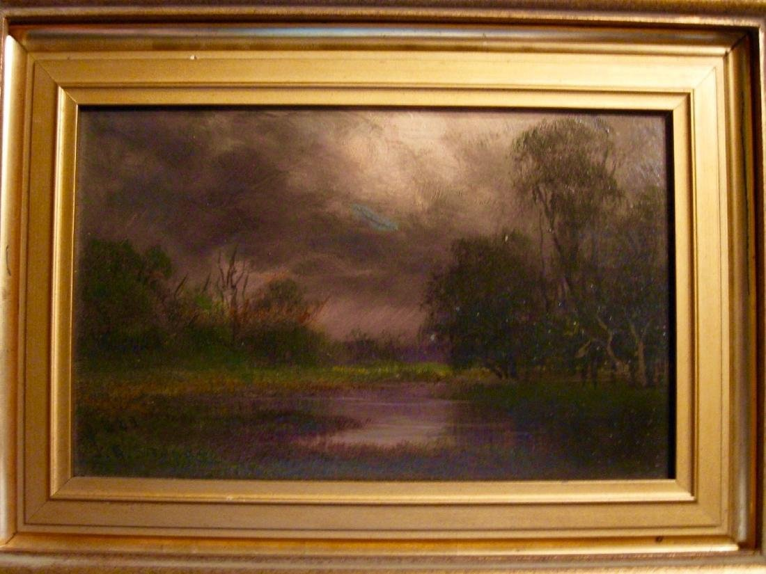 J V Stuart. Swamps of the San Jouquin River Cal, Oil - 6