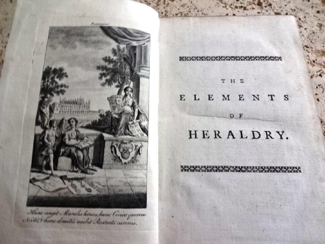 1771 The Elements of Heraldry…w/ Illustrations