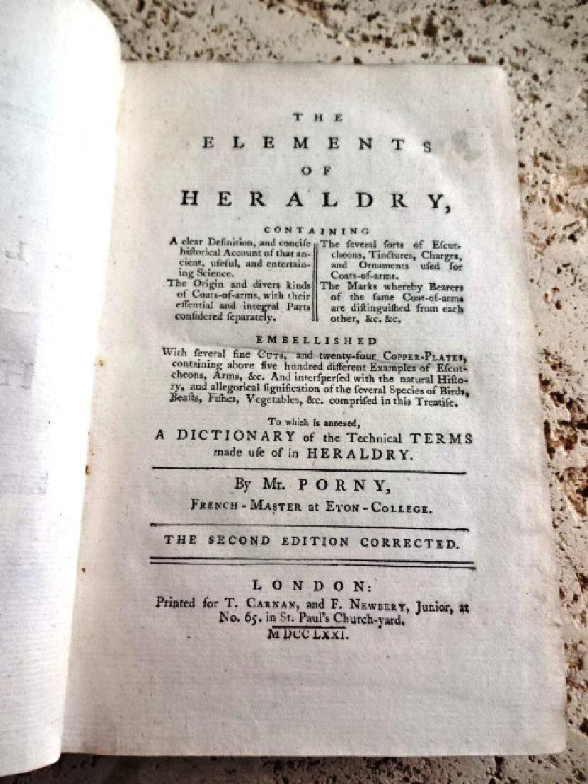1771 The Elements of Heraldry…w/ Illustrations - 2