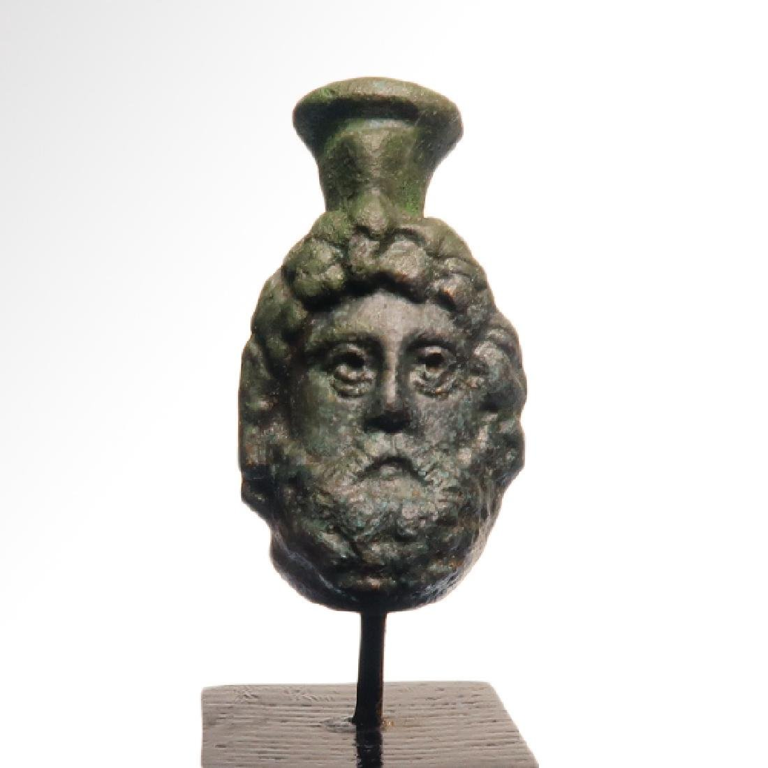 Roman Bronze Head of Zeus-Serapis, c. 1st Century A.D.