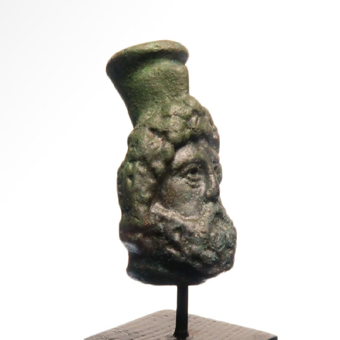 Roman Bronze Head of Zeus-Serapis, c. 1st Century A.D. - 3