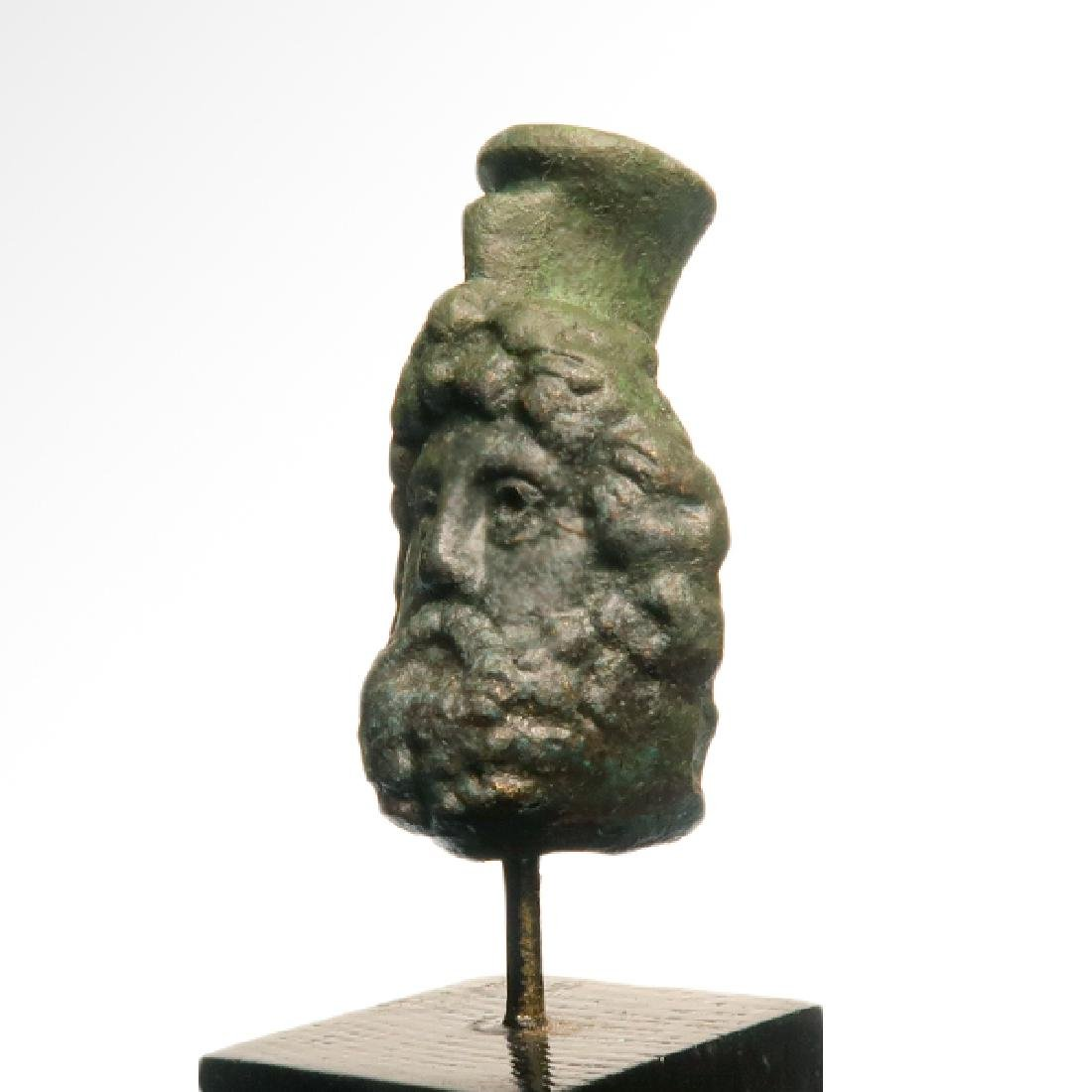 Roman Bronze Head of Zeus-Serapis, c. 1st Century A.D. - 4