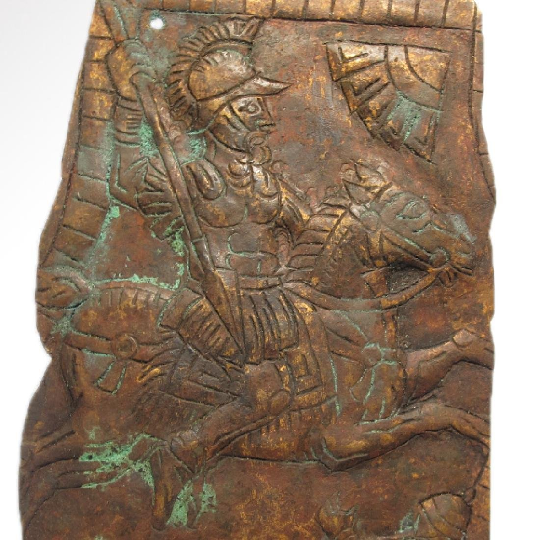Roman Cavalry Cuirasse Fragment with Riding Soldier  c. - 3