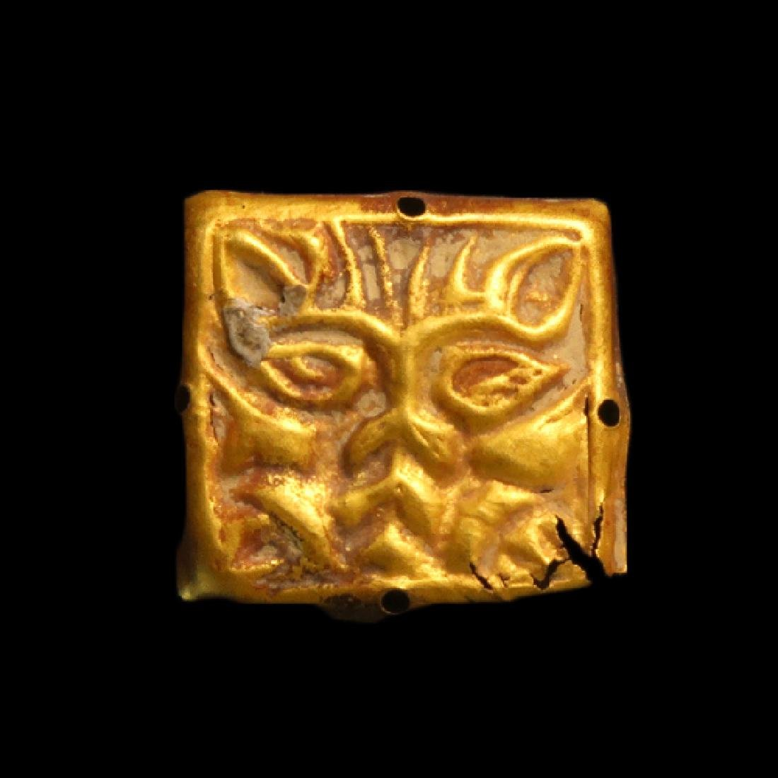 Scythian-Sarmatian Gold Ornament Plaque with Lion, c. - 2