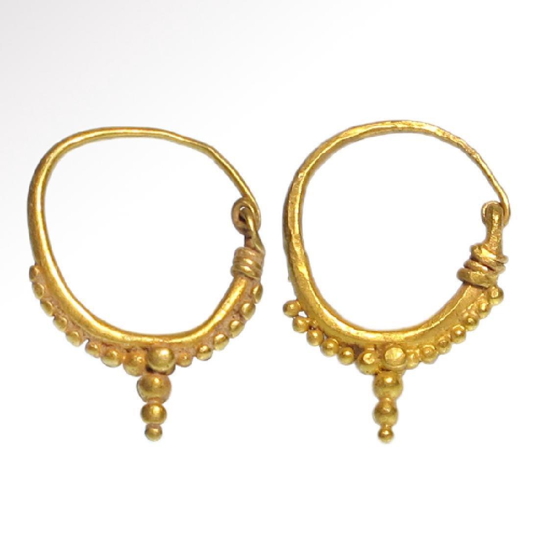 Roman Gold Hoop Earrings, c. 2nd-4th Century A.D.
