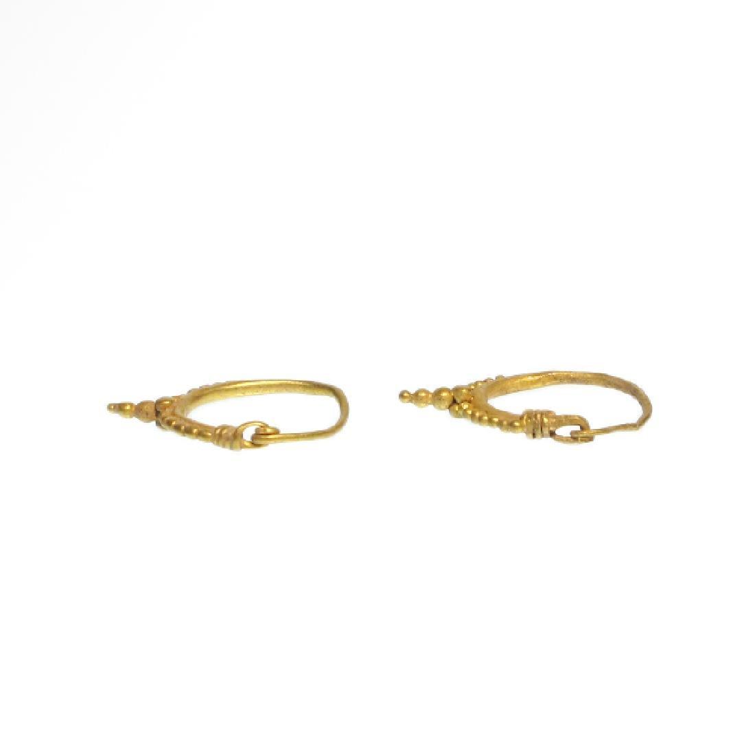 Roman Gold Hoop Earrings, c. 2nd-4th Century A.D. - 6