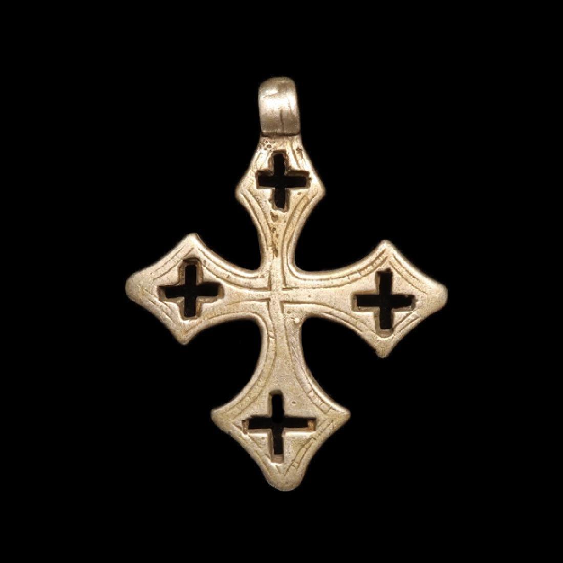 Byzantine Silver Cross, c. 8th-10th Century A.D.