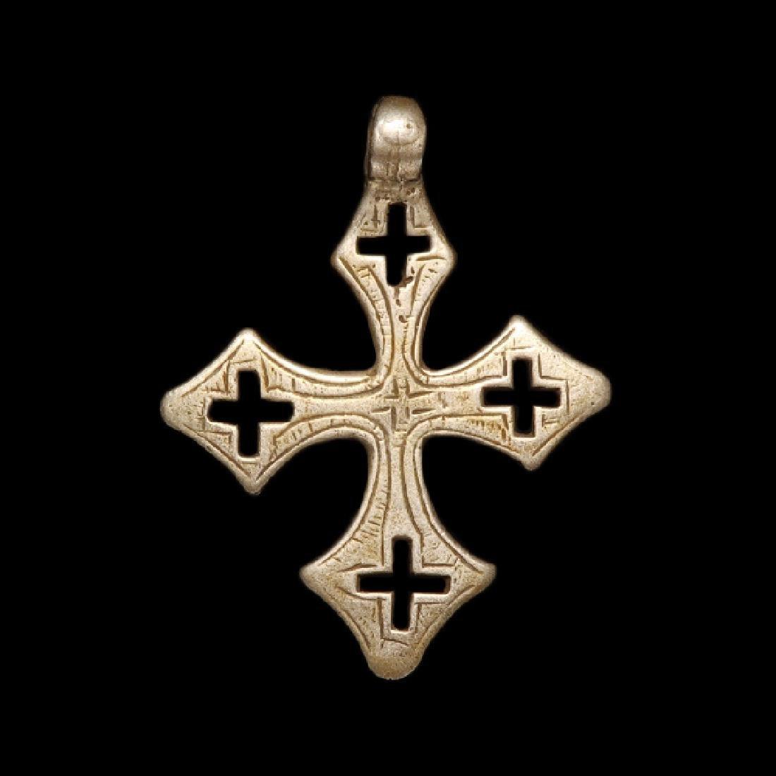 Byzantine Silver Cross, c. 8th-10th Century A.D. - 2