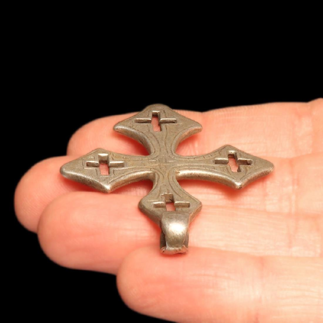 Byzantine Silver Cross, c. 8th-10th Century A.D. - 3