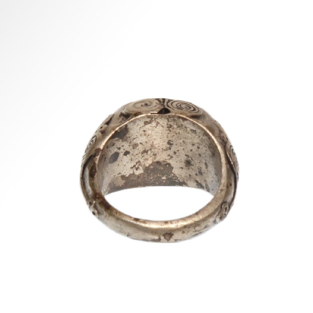 Viking Silver and Cornelian Ring, c. 10th Century A.D. - 5