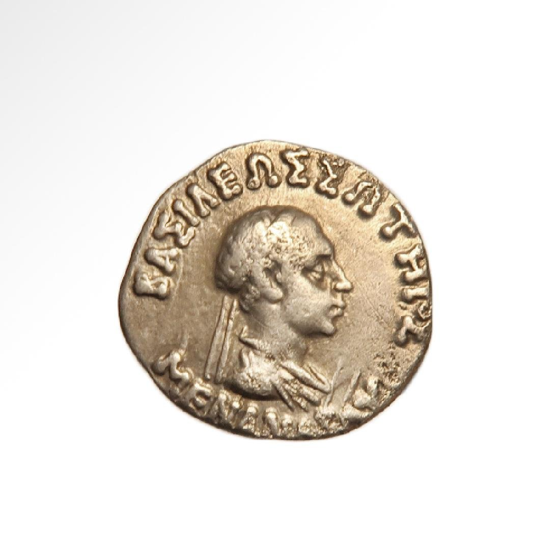 Bactrian, Indo-Greek Silver Drachm, Menander