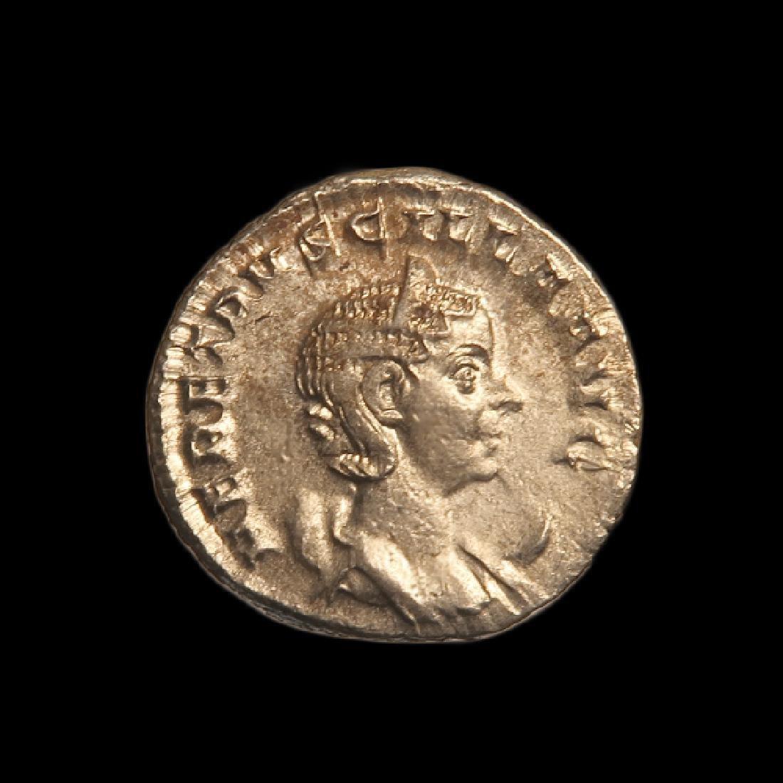 Roman Silver Coin, Etruscilla, Wife of Emperor Trajan,