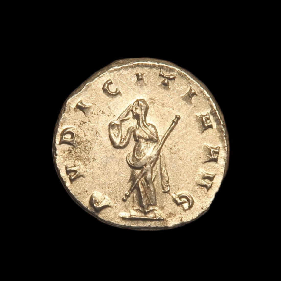 Roman Silver Coin, Etruscilla, Wife of Emperor Trajan, - 2