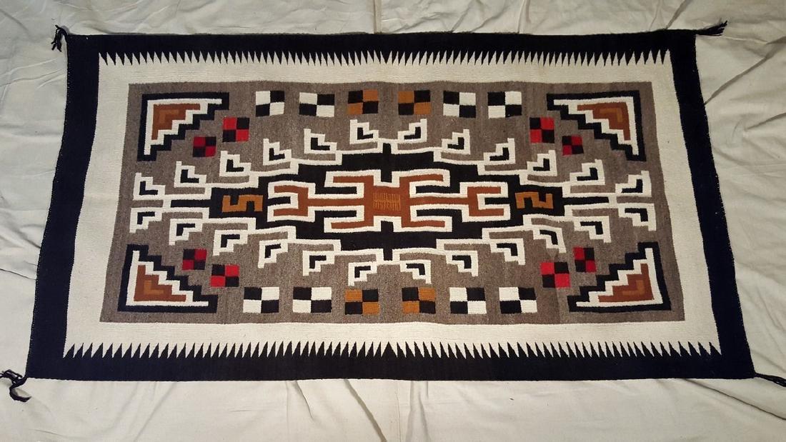 Navajo Woven Rug Ca 1950's