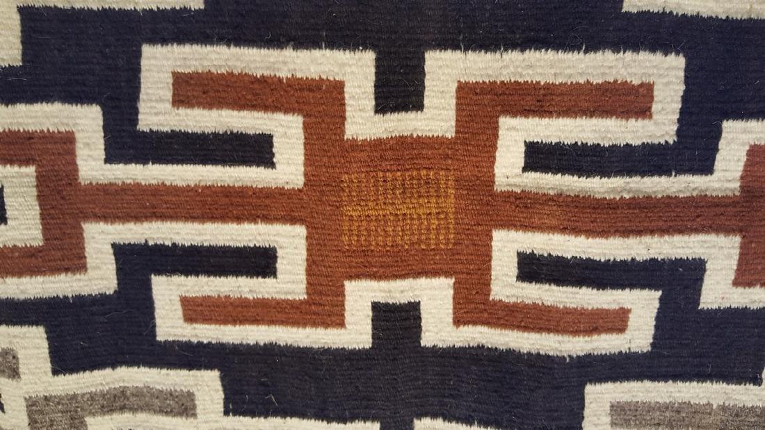 Navajo Woven Rug Ca 1950's - 3