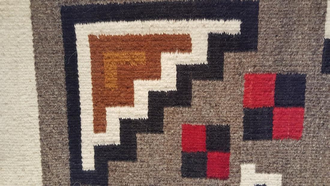 Navajo Woven Rug Ca 1950's - 4