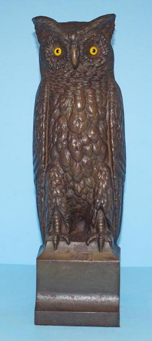 Antique Bradley & Hubbard Owl Cast Iron Doorstop