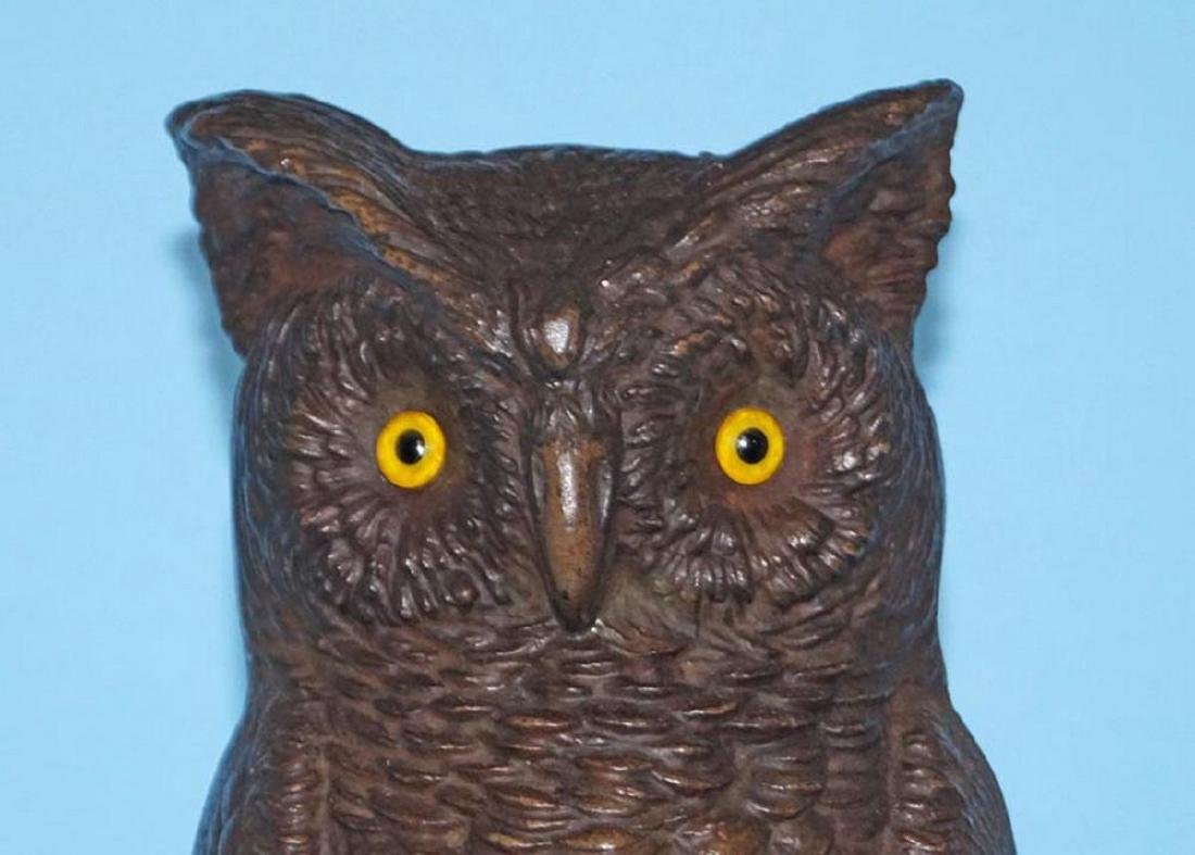 Antique Bradley & Hubbard Owl Cast Iron Doorstop - 2