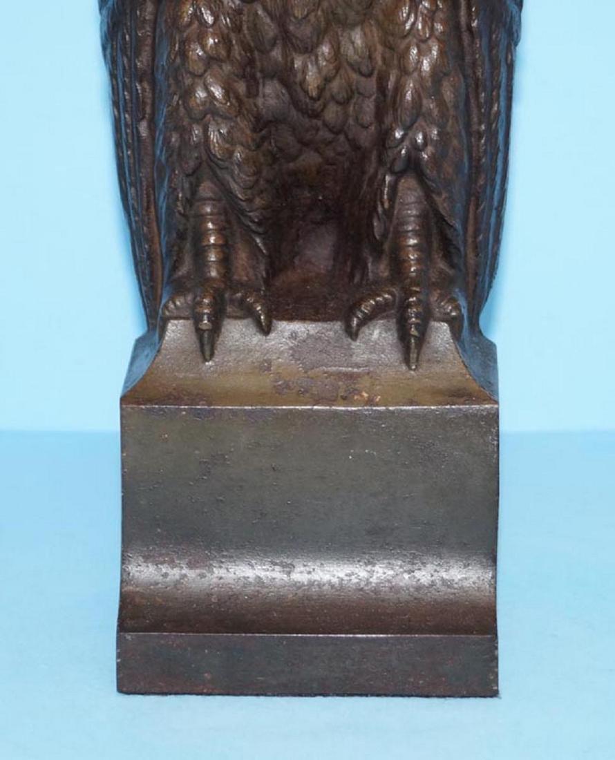 Antique Bradley & Hubbard Owl Cast Iron Doorstop - 3