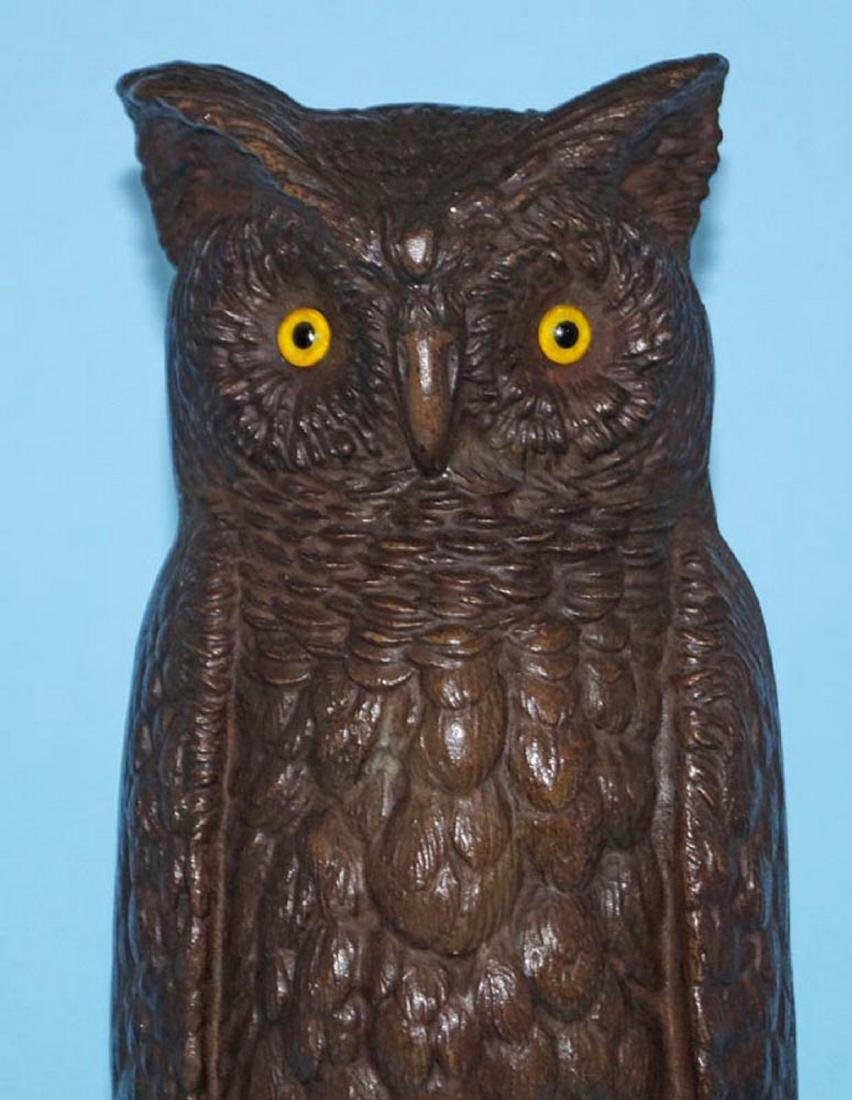 Antique Bradley & Hubbard Owl Cast Iron Doorstop - 6