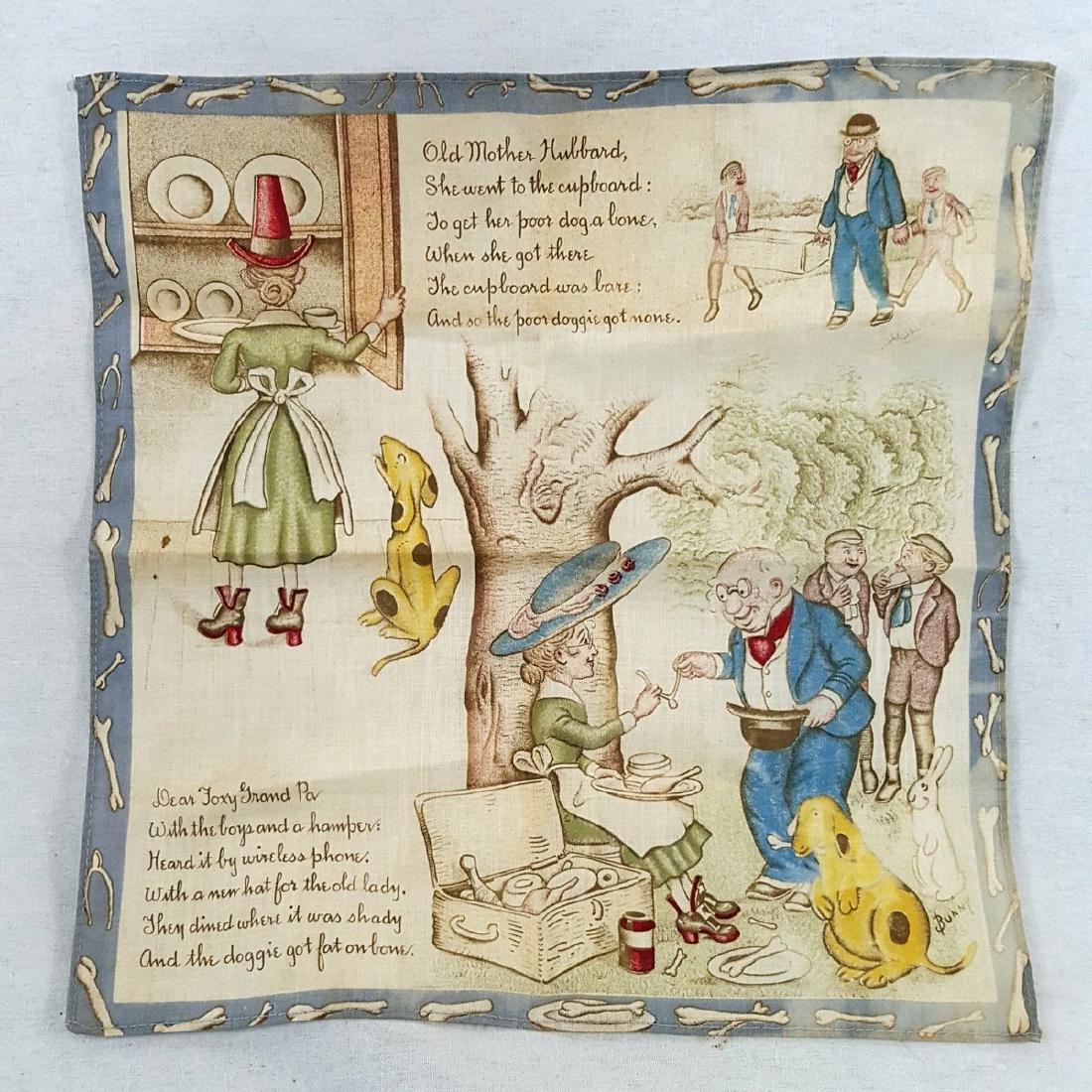Child's Printed Storybook Hankie Ca 1920's