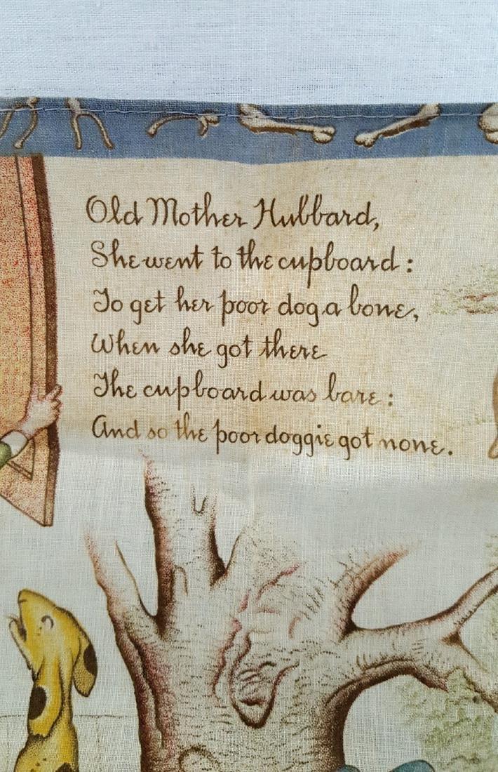 Child's Printed Storybook Hankie Ca 1920's - 2