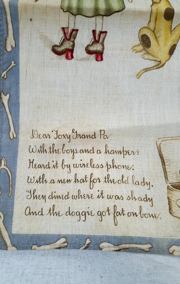 Child's Printed Storybook Hankie Ca 1920's - 3
