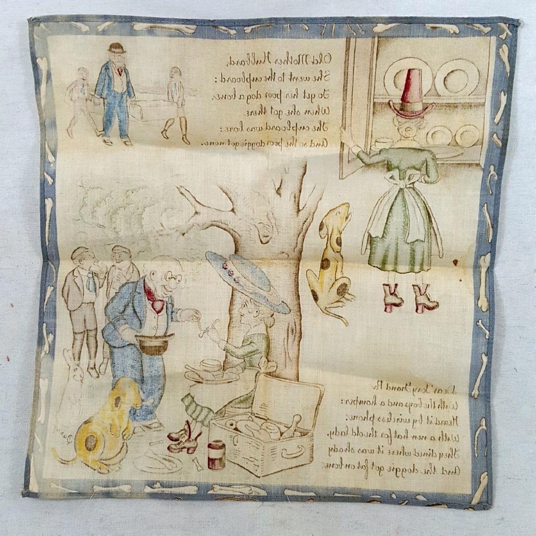 Child's Printed Storybook Hankie Ca 1920's - 6